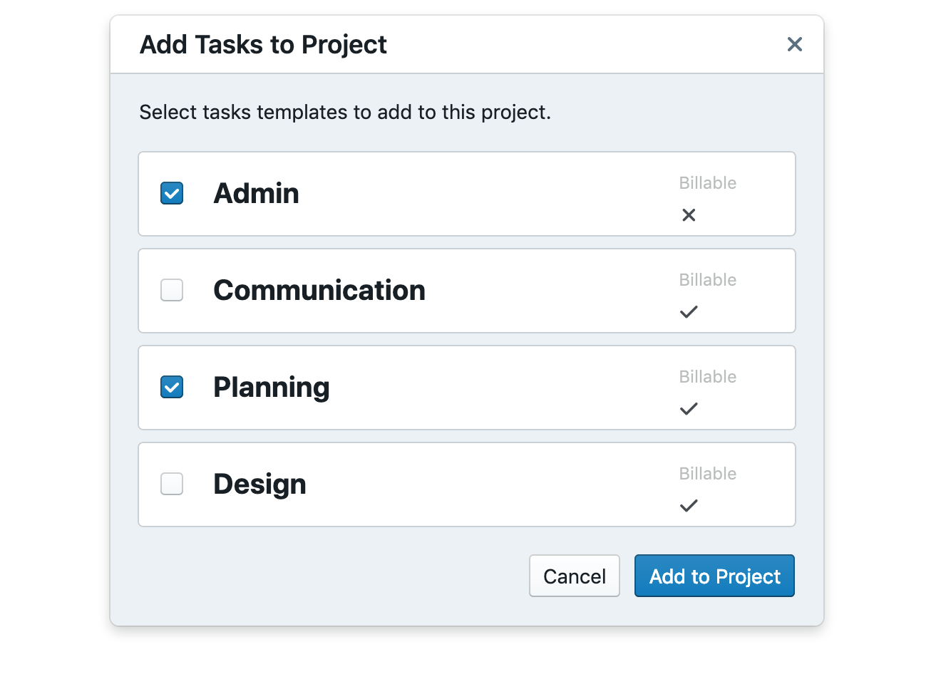 Quickly add tasks to your project